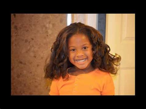 kids hair styles flat iron curls youtube