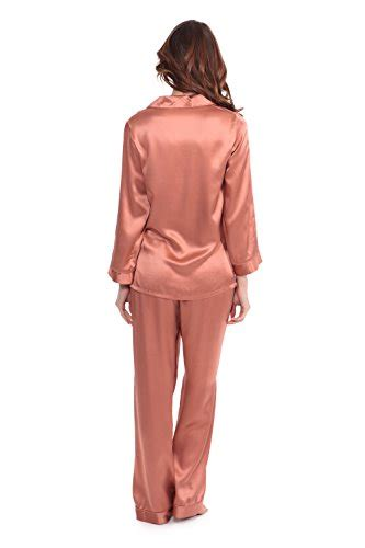womens silk pajamas morning dew classic luxury pjs gift desertcart