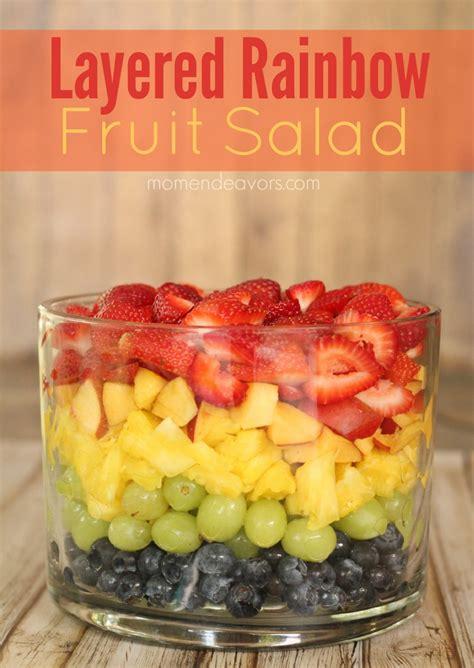 layered rainbow layered rainbow fruit salad