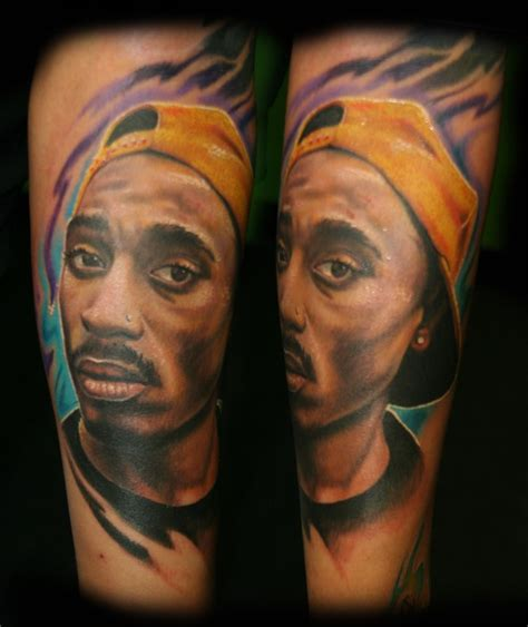 tupac shakur tattoos tupac shakur portrait by stevie monie tattoonow