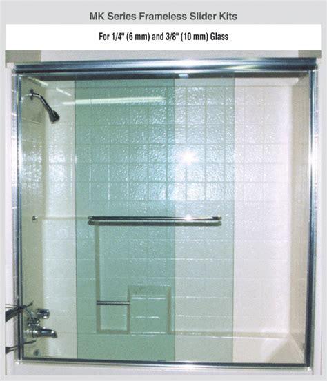 Frameless Glass Shower Door Kits Crl Brite Anodized Frameless Quot Mk Quot Series Sliding Shower Door Kit 60 Quot W X 72 Quot H For 3 8