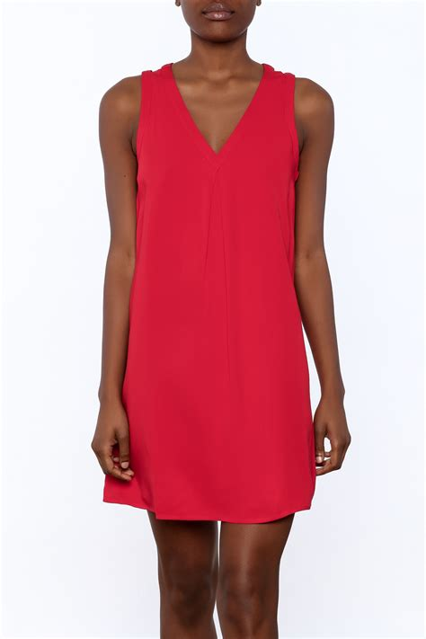 30918 Y Neck Dress y i clothing boutique v neck strappy back dress from