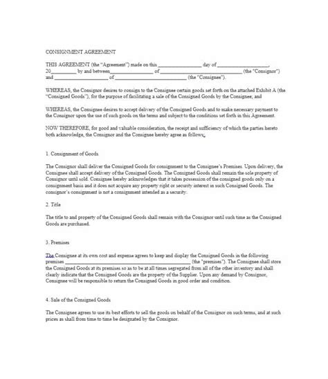 clothing consignment agreement template consignment agreement pdf ichwobbledich