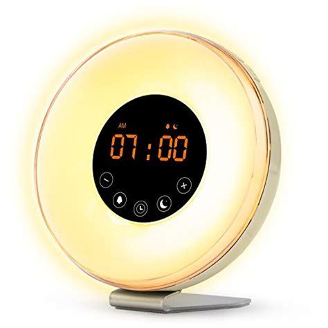 sunrise wake  light digital alarm clock  upgraded import