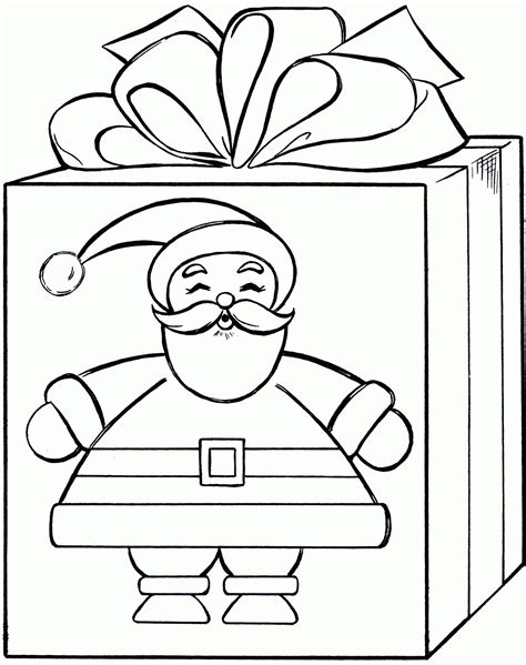 gift coloring page coloring home