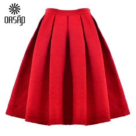 oasap 2015 wholesale high waist saia midi puff skirt