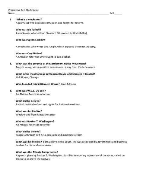 us history chapter 14 section 1 progressive study guide with answers