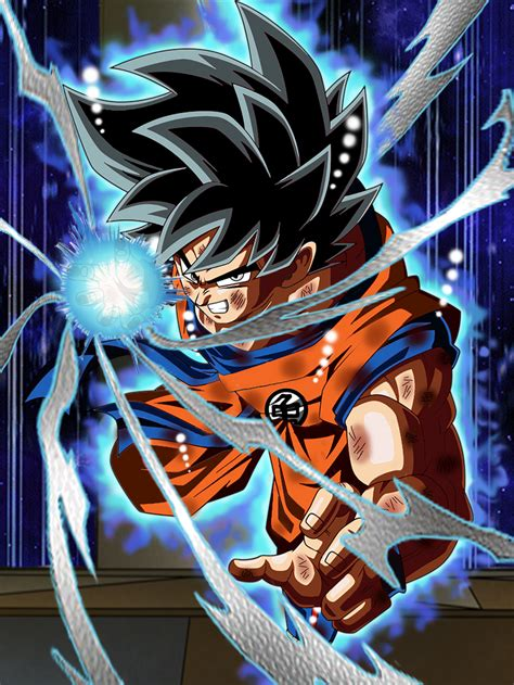 imagenes de goku instinct ultra instinct goku dokkan battle style by xenodva on