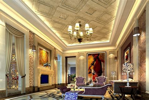 british neoclassical interior wooden walls and fabric sofa chinese neoclassical interior image