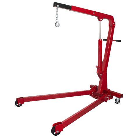 masterpro folding engine crane stand hoist lift jack  tonne  kg garage ebay