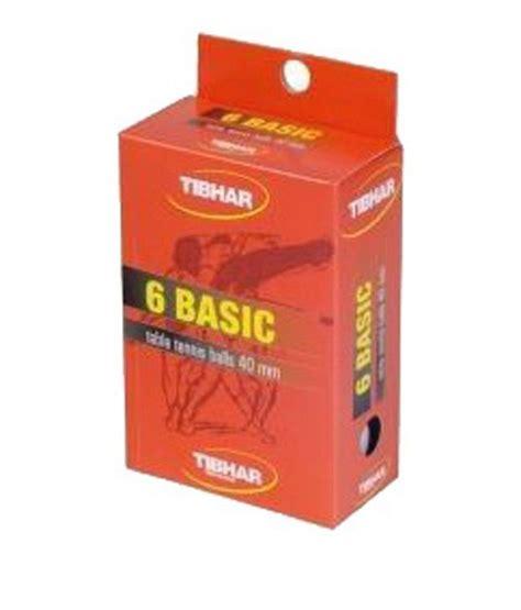 basic table tennis tibhar basic table tennis 40 mm white buy