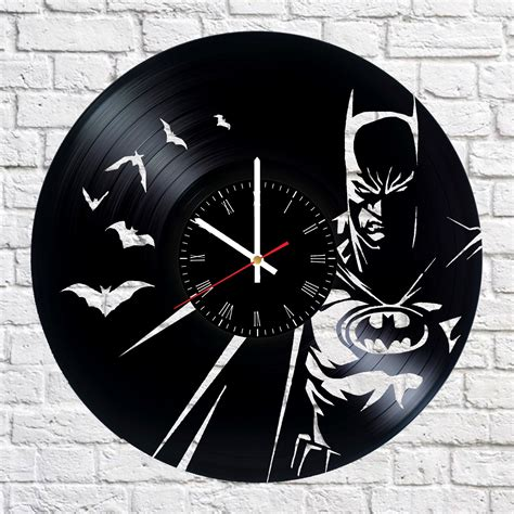 clock made of clocks batman handmade vinyl record wall clock vinyl clocks