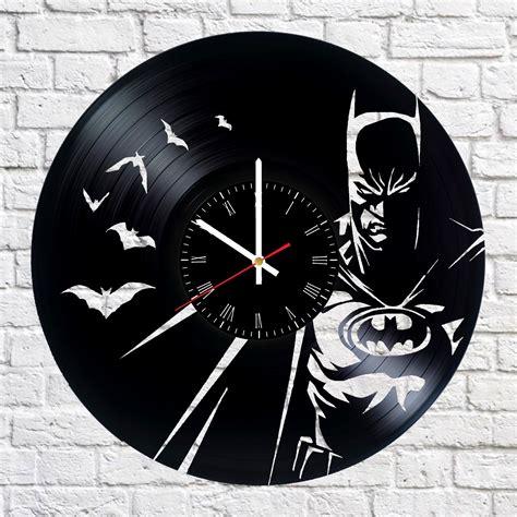 vinyl record wall clock batman handmade vinyl record wall clock vinyl clocks