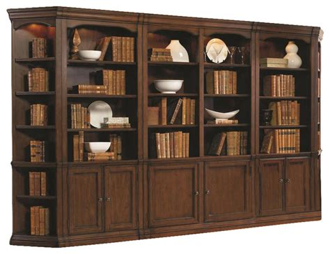 Dining Room Tables Round hooker furniture cherry creek wall bookcase traditional