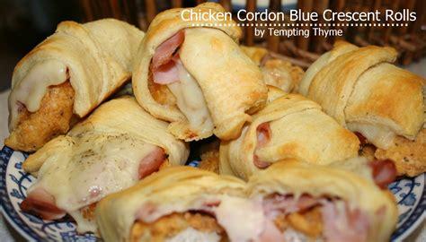 crescent rolls chicken cordon bleu crescent rolls tempting thyme