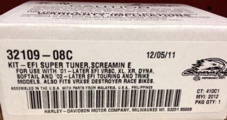 harley davidson screaming eagle super tuner 32109 08c | ebay