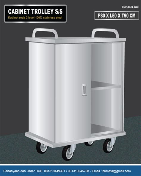 Kabinet Dapur Stainless Steel stainlees steel cabinet trolley with swing door pt bumi