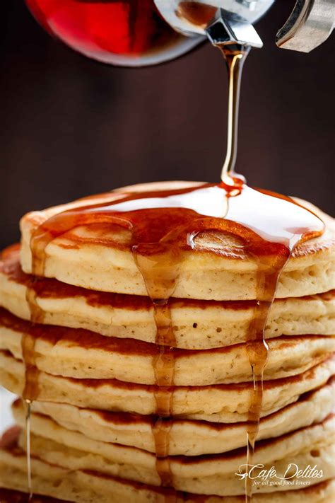 how to make best pancakes best fluffy pancakes cafe delites