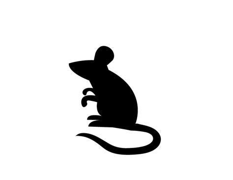 mouse silhouette template this fresh fossil freebie friday creepy mouse silhouettes