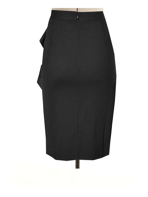 black pencil skirt with side flair custom made to