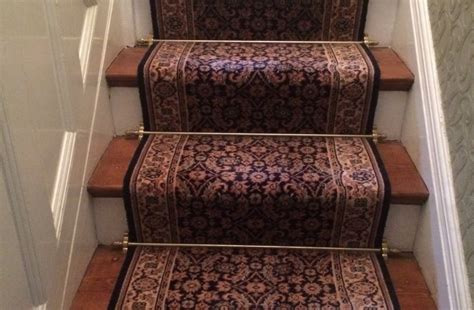 Where To Use Carpet Runners - how to fit stair rods reproduction
