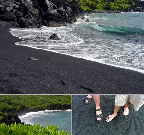 punalu u black sand beach on the big island beaches with the most charming of sand color in the world