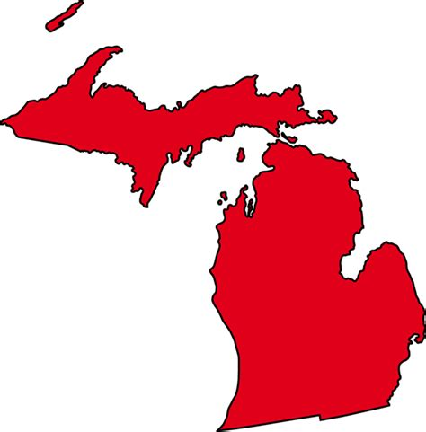 Of Michigan Finder Blank Map Of Michigan Clipart Best