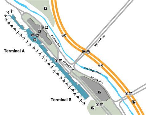 sjc terminal map sjc airport up and drop