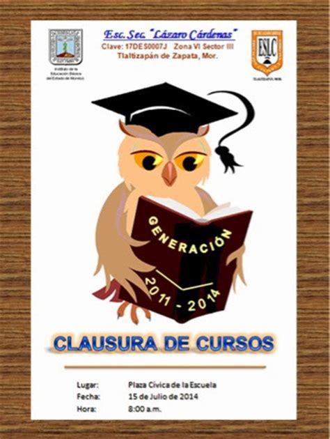 clausura de cursos atlas secundaria lazaro cardenas clausura de cursos