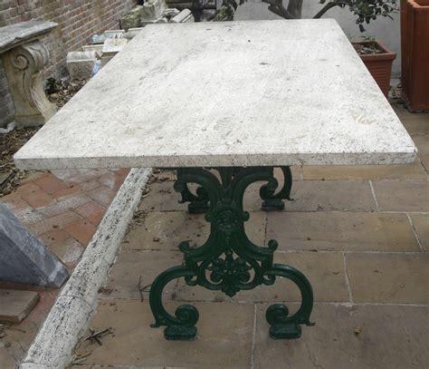 tavolo piano marmo tavolo da giardino in ghisa con piano in marmo
