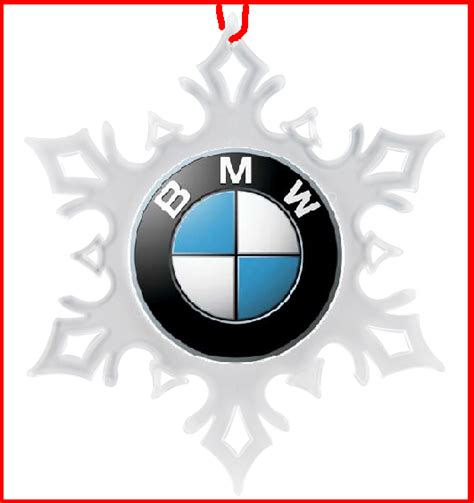 bmw car christmas ornament snowflake xmas ornament