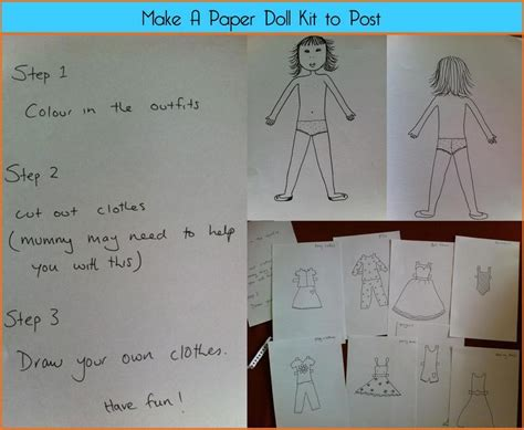 Make A Paper Doll - a paper doll a postal gift be a