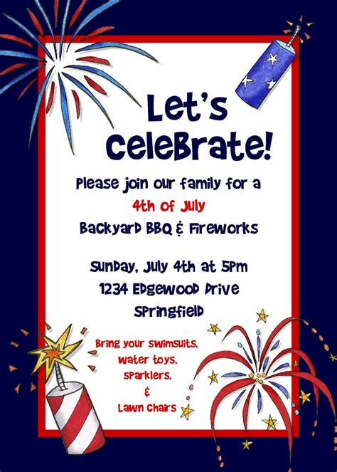 4th of july invitation templates river photo greetings 4th of july invitation