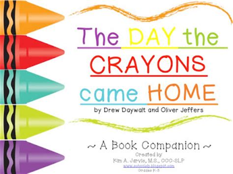 school slp book companion preview the day the crayons