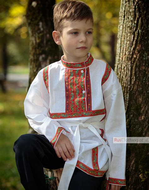 boys cotton russian shirt rusclothing com