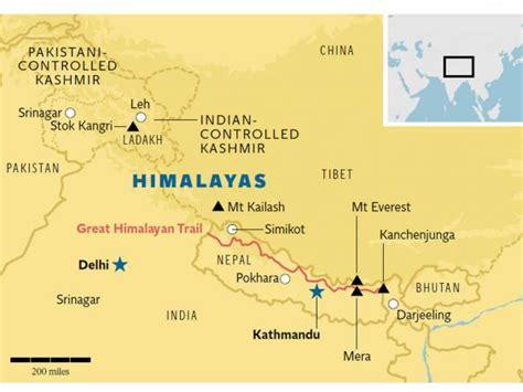 himalayan mountains map himalaya mountains map gallery