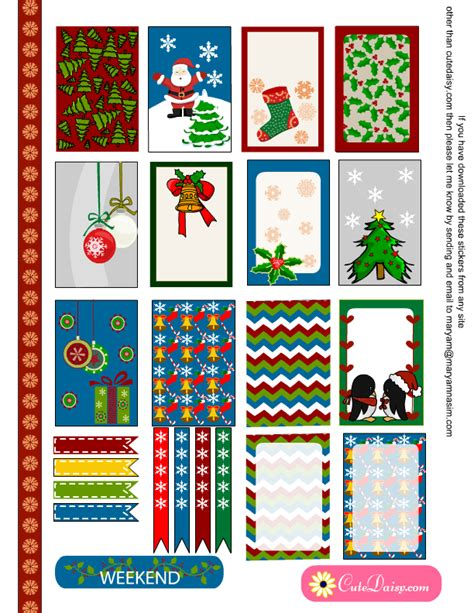 free printable christmas planner stickers free printable christmas stickers for erin condren and