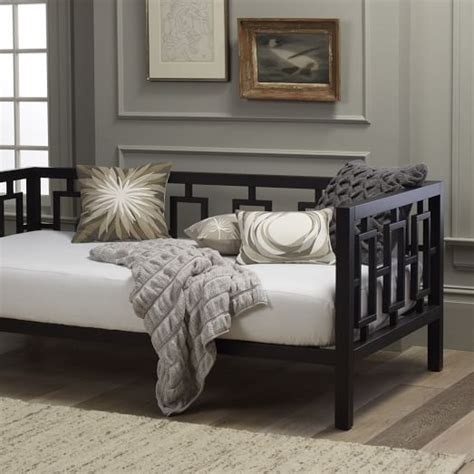 west elm twin bed window daybed chocolate west elm