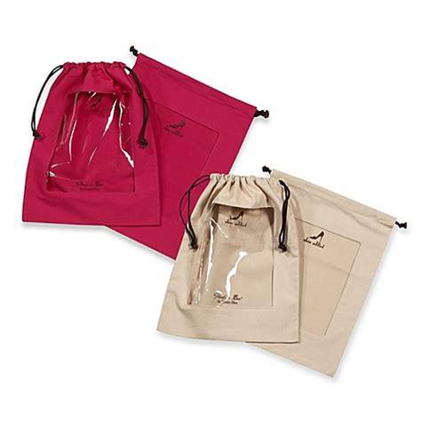 Set Of 2 Shoe Bag clear peek a boo window shoe bag set of 2 bed bath