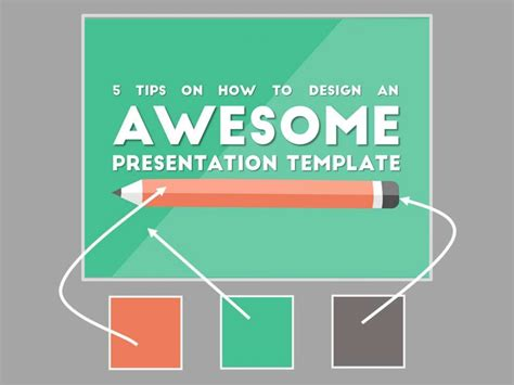 how to create a presentation template in powerpoint 2 3 colors and stick