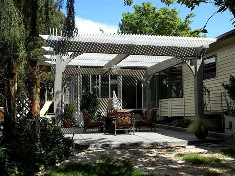 louvered roof pergola peaceful places 20 serene outdoor living spaces western