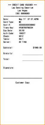 Template Credit Card Receipt 11 Credit Card Receipt Template Invoice Template