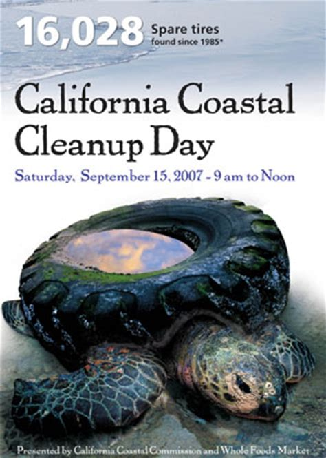 coastal cleanup day posters, california coastal commission