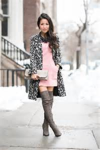 snow leopard rose dress amp grey tall boots wendy s