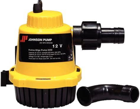 proline boat parts pro line johnson 12v 500 gallon per hour bilge pump 189