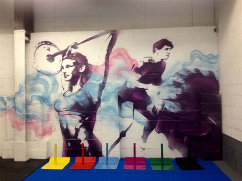 gymnastics wall murals new crossfit mural for wod house a functional fitness centre based in cardiff все мои
