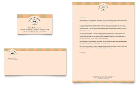 business letterhead and business cards catering company business card letterhead template