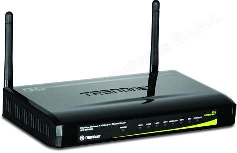 Modem Adsl Router modem router trendnet wireless n adsl 2 2 de 300 mbps tew