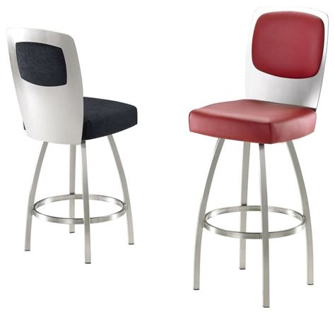 contemporary bar stools swivel trica calvin swivel bar stool brushed steel