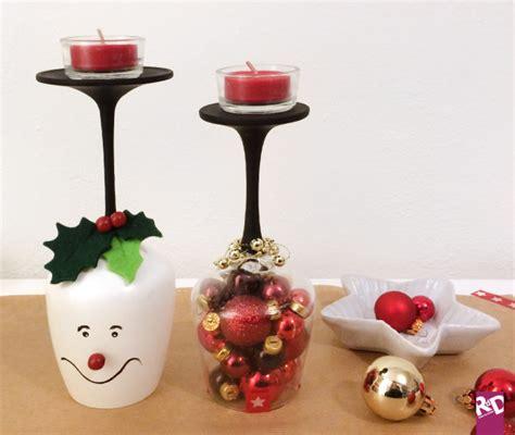 bicchieri decorati per natale riciclo creativo come creare dei portacandele natalizi